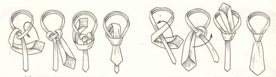 Завязывание галстука в картинках