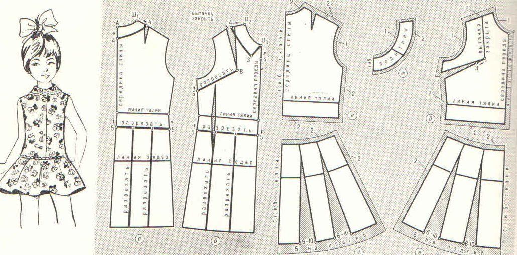Красивое платье для девочки на новый