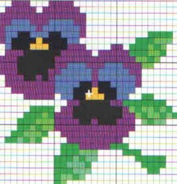Цветы вышивка крестиком начинающих