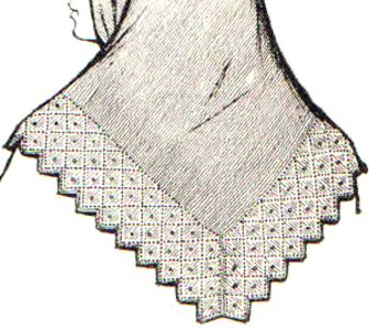Вязать угол в платке