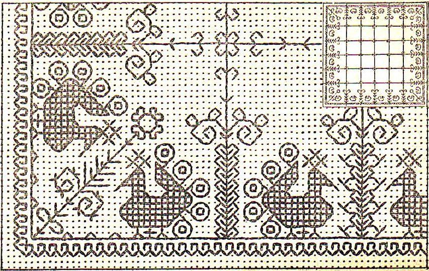 Схема вышивки «птицы»