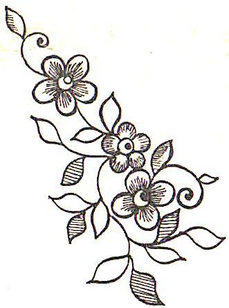 Рисунки цветы для вышивки гладью