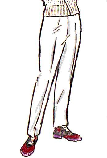 Женские зауженные брюки построение выкройки