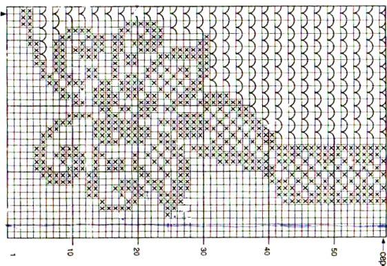 Схемы салфеток филейного вязания крючком