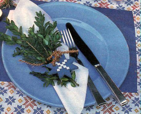Как сложить салфетку на праздничный стол