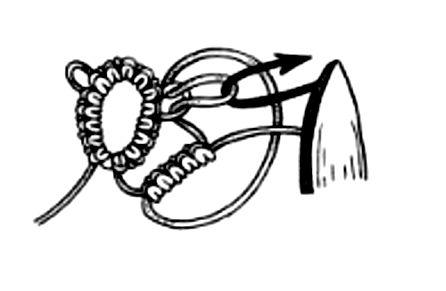 Фриволите – узел соединительное пико, узел «жозефины»